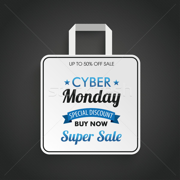 Shopping Bag Cyber Monday Super Sale Stock photo © limbi007