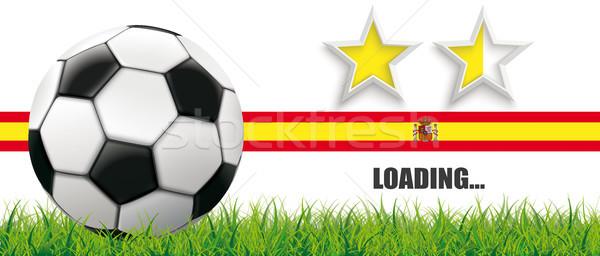 футбола трава Испания флаг звезды Сток-фото © limbi007