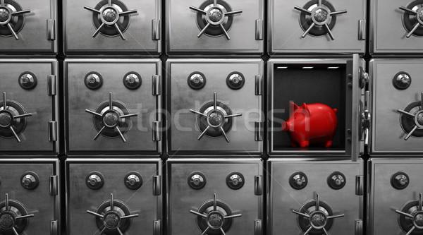 Strongboxes Red Piggy Bank Stock photo © limbi007