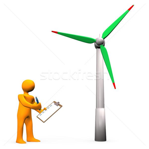 Wind Turbine Check Stock photo © limbi007