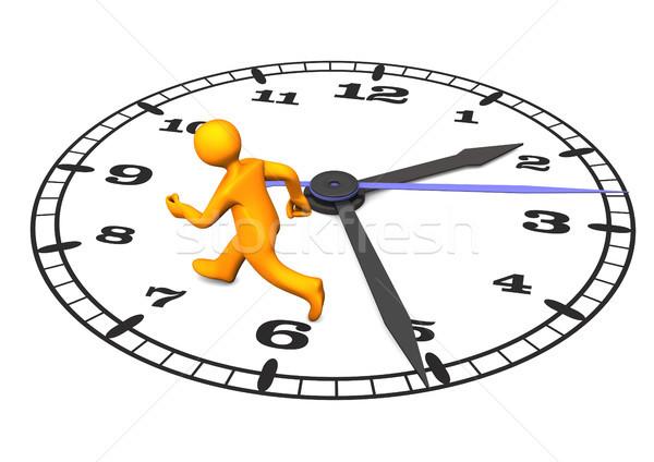 Estresse · Laranja · Grande · Relógio · Ilustração