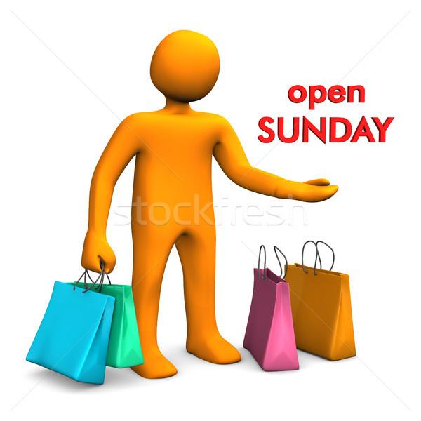 Manikin Open Sunday Stock photo © limbi007
