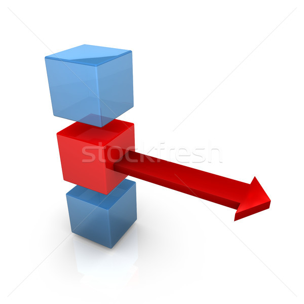 Three Cubes One Arrow Stock photo © limbi007