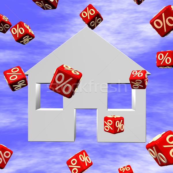 Real Estate 3D Stock photo © limbi007