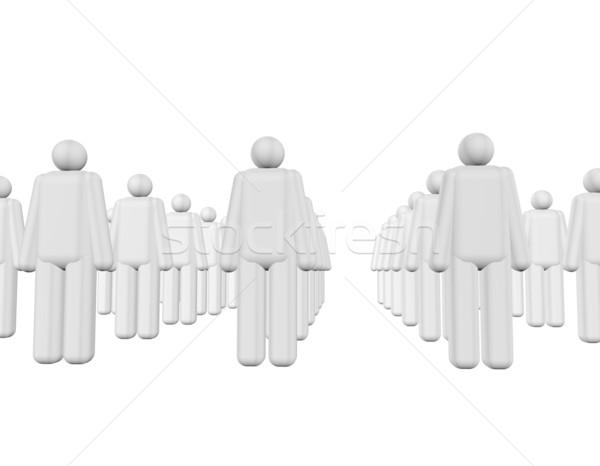 Pessoas 3D cinza branco abstrato amigos Foto stock © limbi007