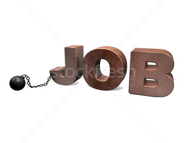 Slave of Job 3D Stock photo © limbi007
