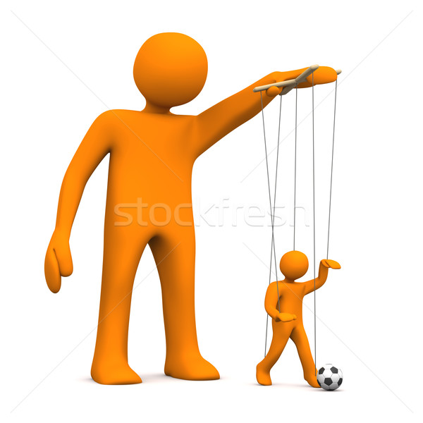 марионетка футбола оранжевый белый спорт Сток-фото © limbi007