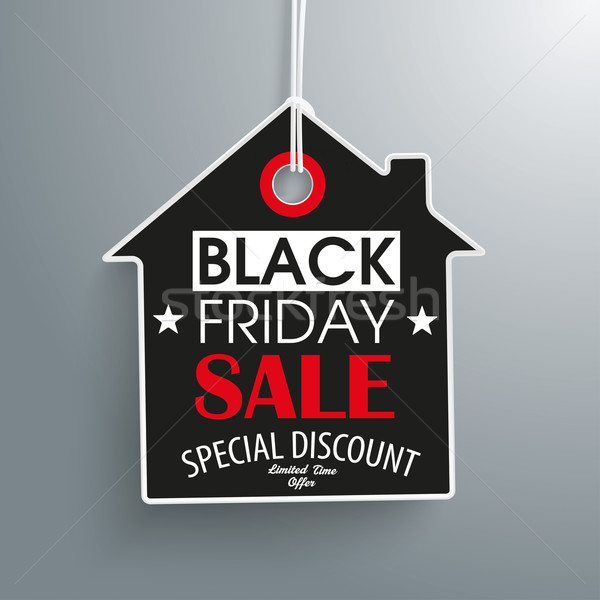 Black Friday House Price Sticker Stock photo © limbi007
