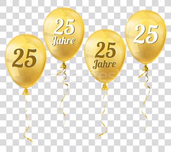 Altın şeffaf balon 25 metin yıl Stok fotoğraf © limbi007