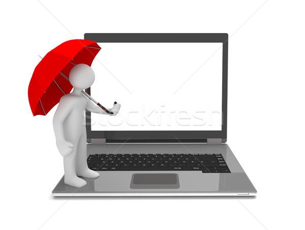 Manikin Umbrella Notebook Stock photo © limbi007