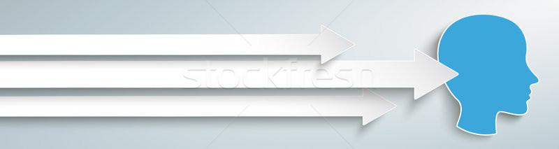 3 Arrows Human Head Stock photo © limbi007