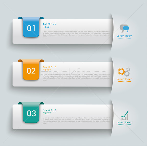 3 Convert Banners Colored Markers Stock photo © limbi007