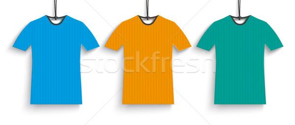 Foto stock: Tshirt · preço · adesivos · branco