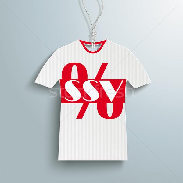 Price Sticker T-Shirt Red Stripe SSV Stock photo © limbi007