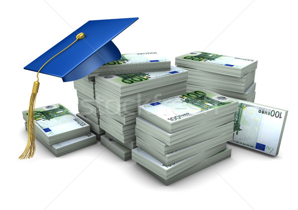 Graduation Cap Money Stock photo © limbi007