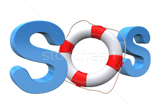 СОС синий текста воды морем судно Сток-фото © limbi007