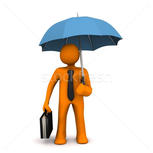 Businessman Umbrella Stock photo © limbi007