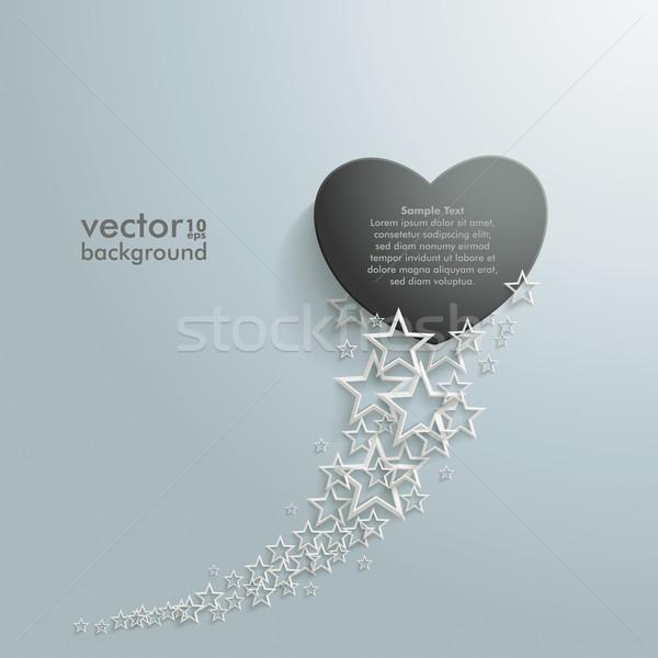 White Stars Dust Black Heart Stock photo © limbi007