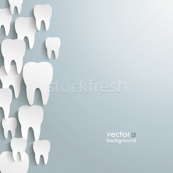 White Teeth Left Side Background Stock photo © limbi007