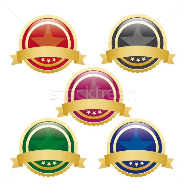 5 Colored Empty Buttons Stock photo © limbi007