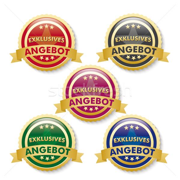 Exklusives Angebot 5 Golden Buttons Stock photo © limbi007