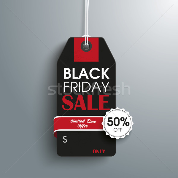 Black Friday Price Sticker Emblem Stock photo © limbi007