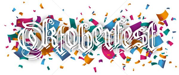 Oktoberfest gekleurd confetti tekst eps Stockfoto © limbi007
