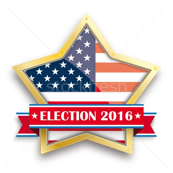 Election 2016 Golden Star Ribbon Stock photo © limbi007
