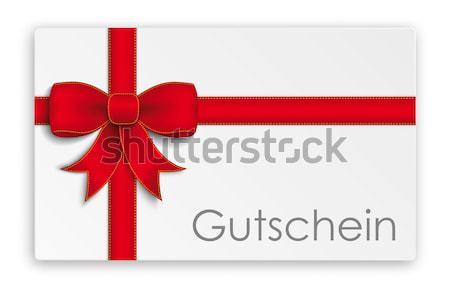 Card Red Ribbon Bow Header SH Stock photo © limbi007