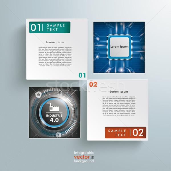 Tér mikrocsip 40 infografika szöveg ipar Stock fotó © limbi007
