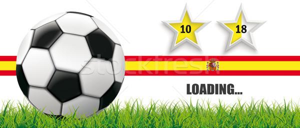 Football Grass Spain Flag Header 2 Stars Loading Stock photo © limbi007