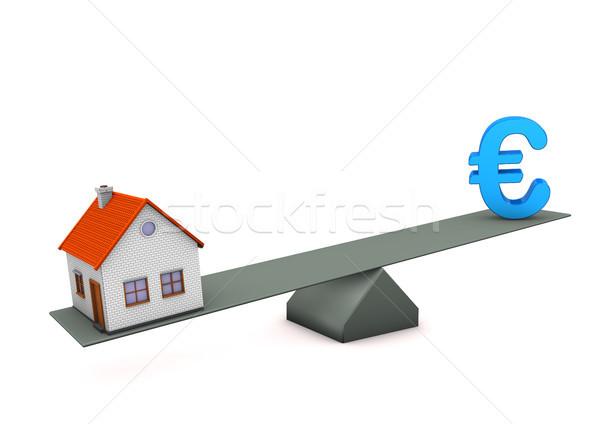 House Euro Balance Stock photo © limbi007