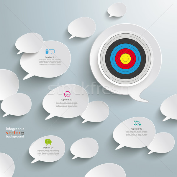 White Speech Bubbles Target Stock photo © limbi007