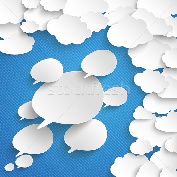 Clouds Blue Sky Speech Bubbles Stock photo © limbi007