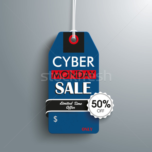 Cyber Monday 50off Price Sticker Emblem Stock photo © limbi007