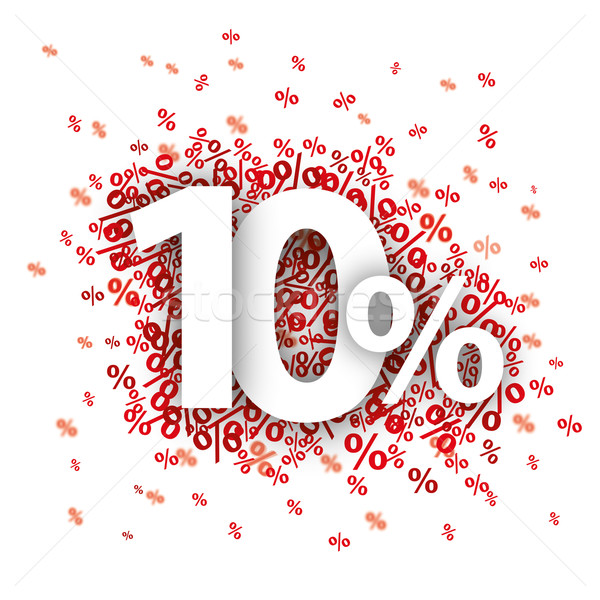 10 Red Percents Stock photo © limbi007
