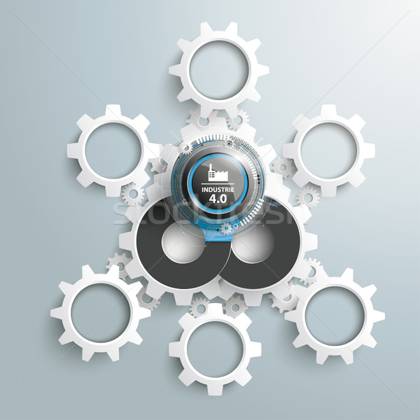 Industrie 4 Infographic Gears Stock photo © limbi007
