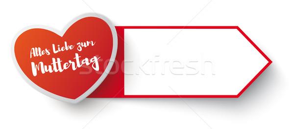 Red Marker Muttertag Stock photo © limbi007
