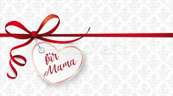 Coração mamãe texto mamãe Foto stock © limbi007
