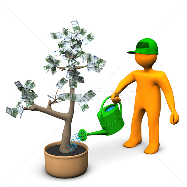 Euro Money Plant Stock photo © limbi007
