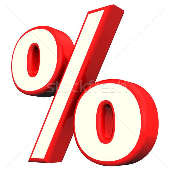Red Percent Symbol Stock photo © limbi007