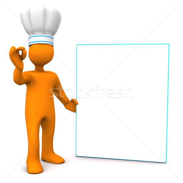 Chef Best Menu Stock photo © limbi007