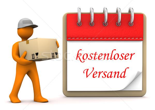 Notepad gratis verzending oranje tekst kalender Stockfoto © limbi007