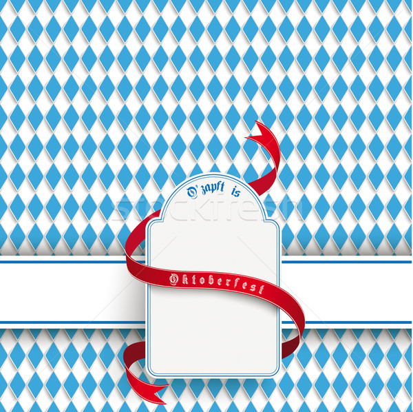 Bavarian Oktoberfest Flyer Banner Emblem Stock photo © limbi007