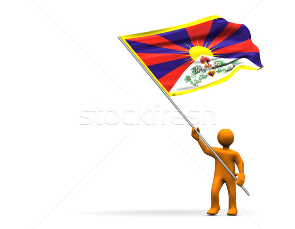Tibet fan illustratie groot vlag Stockfoto © limbi007