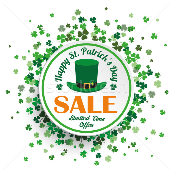 White Circle St Patricks Day Sale Stock photo © limbi007