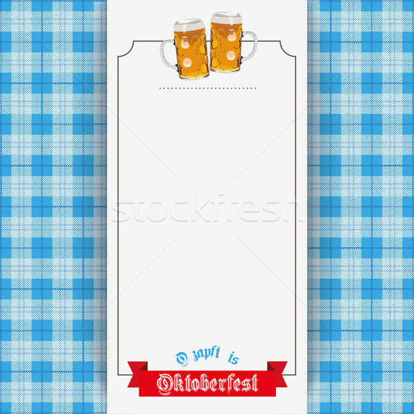 Bavarian Oktoberfest Beer Checked Blanket Banner Stock photo © limbi007