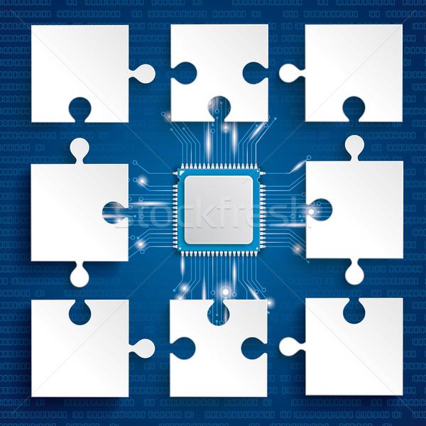 Paper Puzzles Microchip Stock photo © limbi007