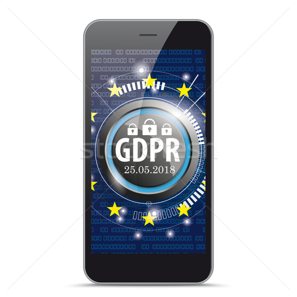 Black Smartphone GDPR Stock photo © limbi007