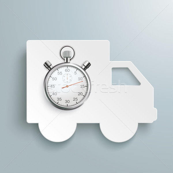 Shipping Paper Car Stopwatch Stock photo © limbi007